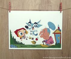 #TerrapinandToad: Original gouache painting - Red Riding Hood