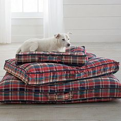 Memory Foam Dog Bed With Cover ~ Plaid ~ Reminds me of Cottage Life | The Company Store