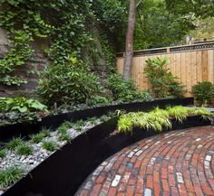 Steam Punk Eclectic in Brooklyn Heights - eclectic - Landscape - New York - New Eco Landscapes, terraced steel planter