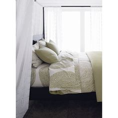 Marimekko Pippurikera Sage Bed Linens in All Decorative Bedding | Crate and Barrel