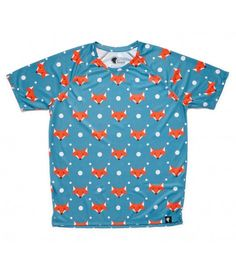 camiseta running hombre zorros zorritos Hoopoe Running Apparel