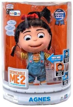 Despicable Me 2 EXCLUSIVE DELUXE 11 Inch Talking INTERACTIVE Figure Agnes #minion #minions #minionstuff
