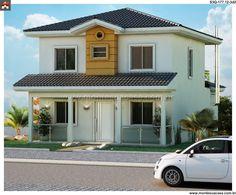Planta de Sobrado - 3 Quartos - 177.12m² - Monte Sua Casa