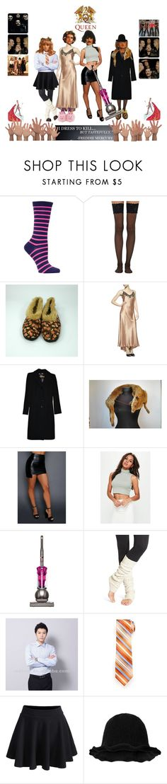 """QUEEN band"" by etsyynb ❤ liked on Polyvore featuring Ozone, Wolford, La Perla, D&G, Missguided, Dyson, Hansel from Basel, Van Heusen, WithChic and Dr. Martens"