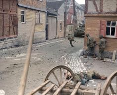 American soldiers in Germany 1945..FEB16