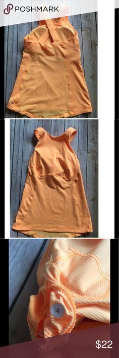 Lulu🍋 top- size 4-Mesh Back-SAlE-Lowest Great condition, does have small tag hole on the inner layer under right arm pit- added picture, the spot is only in the inner layer. Size dot added and is located in bra pad area. Bra pads included.  022 lululemon athletica Tops Tank Tops