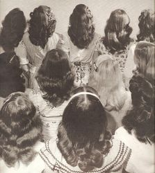 Hairstyles- History of Women's Hairstyles hairstyles. Young teen and women's long hair with a simple center hairstyles. Young teen and women's long hair with a simple center part. Retro Hairstyles, Girl Hairstyles, Teenage Hairstyles, Wedding Hairstyles, Hairdos, 1940s Hairstyles For Long Hair, School Hairstyles, Unique Hairstyles, Braid Hairstyles