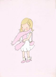 Art for Girls Room - Childrens Wall Art  Print - Nursery Decor - Art Print - Dress Up