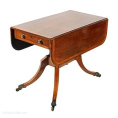 Georgian Rosewood Pembroke Table - Antiques Atlas Pembroke Table, Georgian Furniture, Drop Leaf Table, Get Directions, Two By Two, Antique Tables, Victorian, The Originals, Antiques