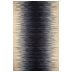 Capel Rugs Beam Navy Wool Rug - flat weave wool
