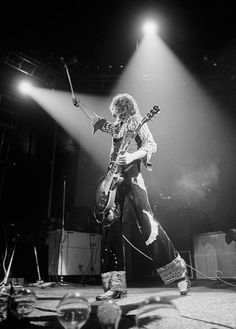 Jimmy Page, capturing the spotlight and turning it into 6 string magic