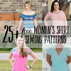Free women's shirt sewing patterns - Swoodson Says It has been ages since I sewed a top for myself but I want to this fall! There are so many sewing patterns for womens tops out there, I wanted to curate a list from Free Printable Sewing Patterns, Beginner Sewing Patterns, Tunic Sewing Patterns, Plus Size Sewing Patterns, Sewing Kids Clothes, Women's Fashion, Indian Attire, Dress Shirt, Fall