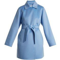 Max Mara Parana coat (1,845 BHD) ❤ liked on Polyvore featuring outerwear, coats, cashmere coats, wool cashmere coat, reversible coat, maxmara and double faced coat