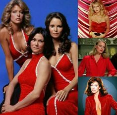Charlie's Angels— L-R: Farrah Fawcett, Kate Jackson, and Jaclyn Smith; Right, top to bottom: Cheryl Ladd, Shelley Hack, and Tanya Roberts