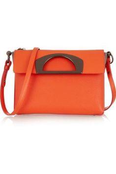 Passage textured-leather shoulder bag #shoulderbag #women #covetme #christianlouboutin