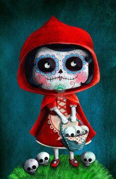 Voodoo Doll Tattoo, Voodoo Dolls, Gothic Drawings, Skull Girl Tattoo, Cute Christmas Wallpaper, Sugar Skull Art, Sugar Skulls, Day Of The Dead Skull, Candy Skulls