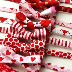 Loving the new goodies that are happening in the studio.     #etsy #heart #handmade #handsome #love #red #pink #valentines #sweetheart #boy #men #baby #wedding #ootd #fashion #accessories #cute #bts #polkadots #bowtie #pretty #valentinesday
