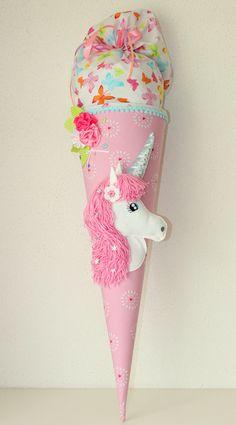 "Schultüte, Zuckertüte, ""unicorn"" - DIY Crafts for Kids Schultüte Diy, Material Didático, School Motivation, Different Light, School Projects, Diy Crafts For Kids, School Bags, Fabric Crafts, Unicorn"