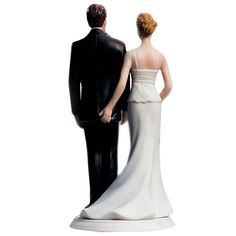 The Love Pinch Couple Wedding Cake Topper - Caucasian - Candy Cake Weddings