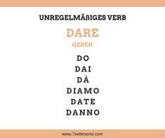 Italienische Verben: Im Italienischen gibt es zahlreiche Verben die unregelmäßig konjugiert werden. Diese muss man einfach auswendig lernen.