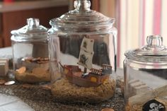 Ship in a bottle at a Pirate Party #pirateparty #shipinbottle