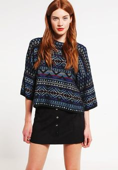OHE - Neule - noir Blouse, Long Sleeve, Sleeves, Shopping, Women, Fashion, Black People, Breien, Moda