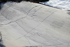 Alta Norway Petroglyh - pecked, without red paint filling
