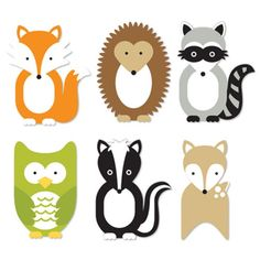 clipart for woodland animals Party Animals, Animal Party, Woodland Theme, Woodland Nursery Decor, Woodland Baby, Forest Animals, Woodland Animals, Bunny And Bear, Baby Deer