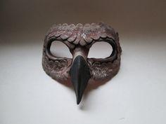 Falcon mask Mens Masquerade Mask, Masquerade Ball, Falcon Costumes, Bird Masks, Donnie Darko, Silver Color, Things That Bounce, Sculpting, Polymer Clay