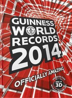 Save 60% on this book. Guinness World Records 2014 brings together thousands of the planet's most awe-inspiring people, pets and products, including new record-holders such as a skateboarding goat, a 15-metre-long robot dragon, the world's furriest cat and a king-size drumkit that needs five people to play it! Packed to bursting with new and updated achievements, Guinness World Records 2014 features an all-new design and more images than we've ever had before.