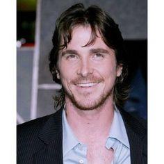Christian Bale Smiling w/Beard 8x10 Photo  Love those teeth!
