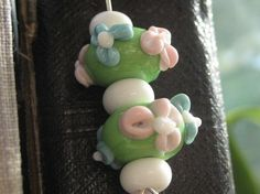 Glass lampwork beaded bookmark    http://www.etsy.com/shop/ChrissieBeads
