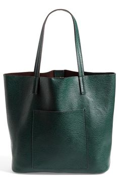Street Level Faux Leather Pocket Tote available at #Nordstrom