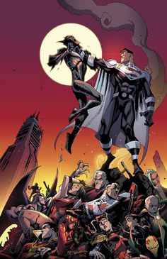 """BATMAN BEYOND UNIVERSE #12 Written by CHRISTOS GAGE and KYLE HIGGINS Art by DEXTER SOY and THONY SILAS Cover by KHARY RANDOLPH On sale JULY 23 • 48 pg, FC, $3.99 US • RATED T • DIGITAL FIRST As Lord Superman stands on the edge of triumph against a physically and emotionally exhausted Justice League, Terry McGinnis returns from the Justice Lords' world armed with a secret weapon! Don't miss the stunning conclusion of """"Justice Lords Beyond."""""""