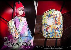 street Punk Comic visual Homer simpson world trip canvas travelling backpack