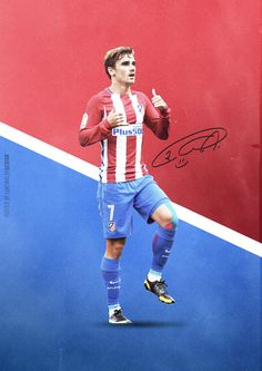 Antoine Griezmann Poster by Luke Walsh - The Signature Series Season 2 on Behance