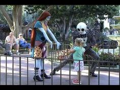 Jack Skellington and Sally Disneyland Meet and Greet Halloween - Nightmare Before Christmas