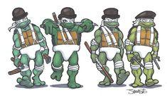Teenage Mutant Ninja Turtles: Clockwork Orange Droogs by James Silvani