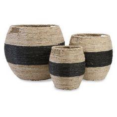IMAX Dorran Woven Basket - Set of 3 #baskets #storage @hayneedle