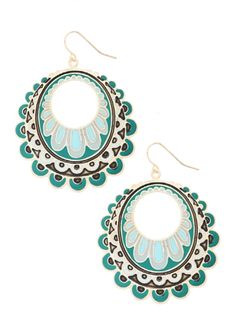 Perfect Peacock Earrings - Re/Dress Online