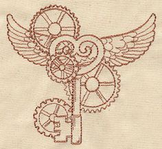 Sabriel ideas... I'm kind of in love with these. Flying Key design (UT2896) from UrbanThreads.com