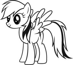 My Little Ponies Friendship Is Magic Rainbowdash Coloring Page