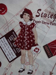 Sewing Girl Rouge   Coton   Atelier Laura