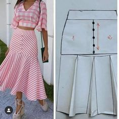 Corte e costura ( Fashion Sewing, Diy Fashion, Fashion Dresses, Fashion Tips, Moda Fashion, Punk Fashion, Fashion Bloggers, Fashion 2017, Fall Fashion