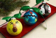 Fingerprint Homemade Christmas Ornaments | AllFreeKidsCrafts.com