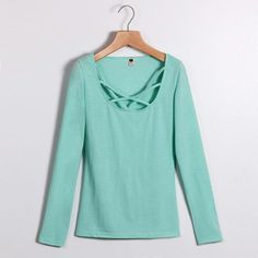 Looking for a perfect #outfit this spring? Check out this #Spring Collection Long Sleeve Hollow Pullover Tops