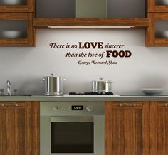 Love this kitchen wall quote! Via Etsy