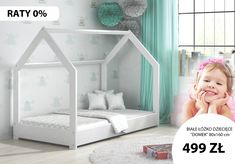 """Łóżko dziecięce 👶 """"DOMEK"""" to idealny wybór dla dziecka, to połączenie łóżka z miejscem zabaw. Dodatkowo świetnie komponuje się z wystrojem dziecięcego pokoju. Uniwersalny wybór dla 👦 chłopca jak i dziewczynki. 👧 Materiałem budowy łóżka jest drewno sosnowe które posiada odpowiednie atesty i certyfikaty dzięki czemu konstrukcja jest całkowicie bezpieczna. #łóżkodladziecka #domek #pokójdziecięcy #dziecko #białełóżko #łóżko160x80cm #domekdladziecka"""