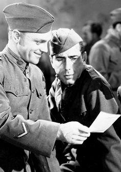 "James Cagney and Humphrey Bogart in ""The Roaring Twenties"" 1939"
