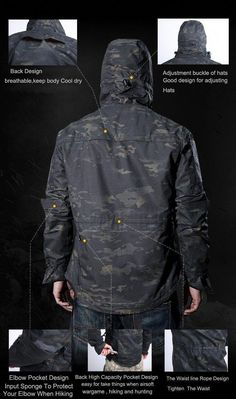 9f61b545d7 Military Tactical Technical Outdoor Jacket For Men Waterproof Windproof  Hooded Hiking Jacket Camouflage Clothing - 6